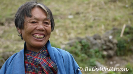 Bhutan_Trek4_WomanLaugh