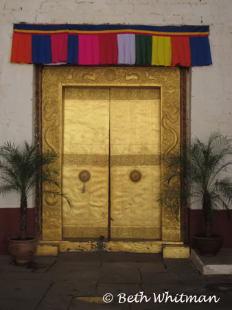 Door at Punakha Dzong