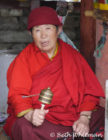 Pilgrim at National Chorten