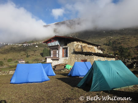 Tents in Laya