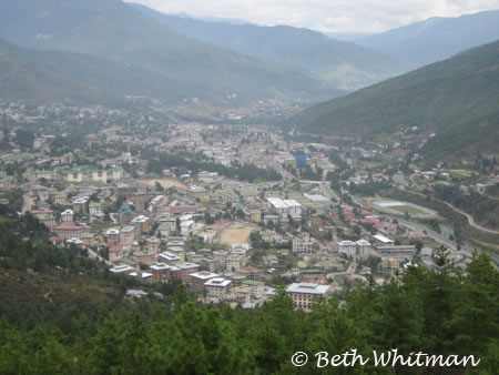 View of Thimpu