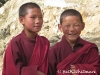 Boy monks on trek route