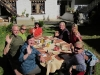 Group at lunch in Bumthang