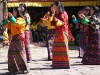 Women dancing at Bumthang tsechu
