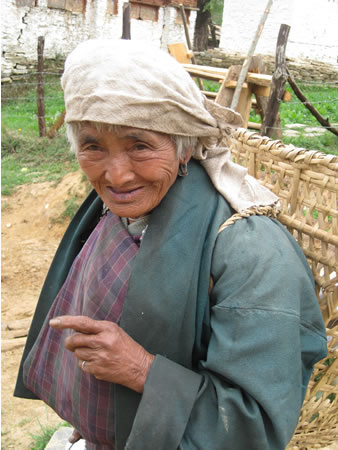Old woman in small village