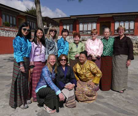 Group in Kiras in Bhutan