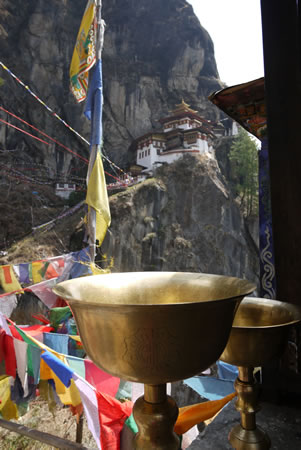 Tigers Nest with Bowl in Bhutan