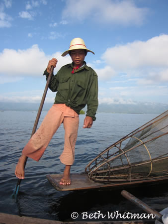 Fishing in Inle Lake, Burma