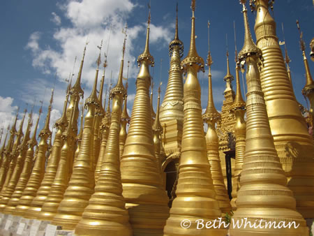 Golden Spires in Mandalay
