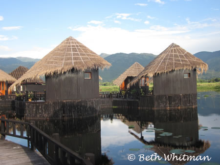 Typcial Hotel on Inle Lake, Burma