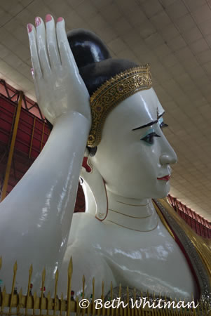 Reclining Buddha in Mandalay, Burma