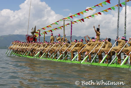 Rowing on Inle Lake, Burma