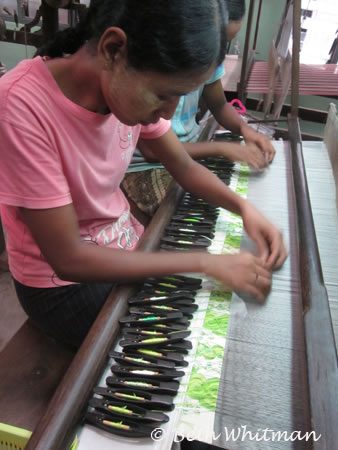 Silk Weaving in Mandalay, Burma