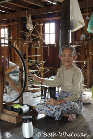 Weaving on Inle Lake, Burma