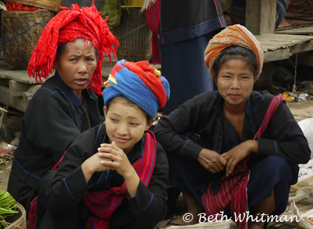 Women at Market on Inle Lake, Burma