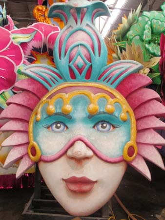 Mask at Mardi Gras World