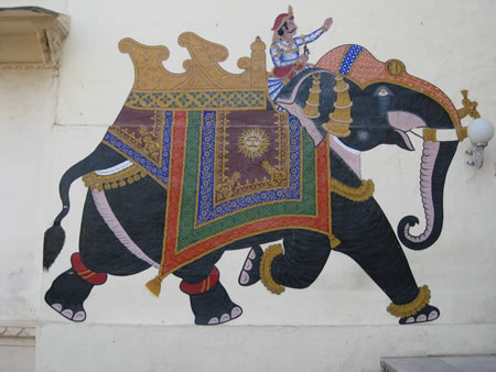 Elephant painting in Rajasthan