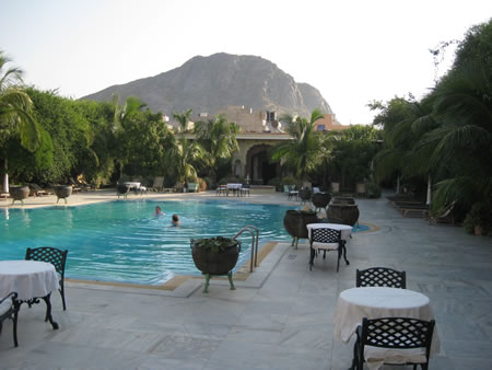 Pool at hotel in Pushkar