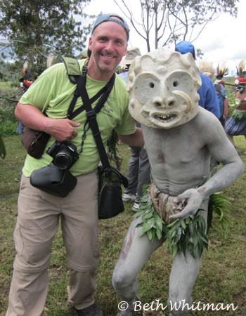 Brett with a Mudman of Goroka