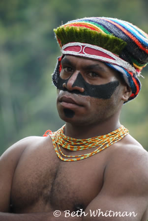 Tribesman at Mt. Hagen Show