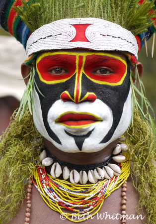 Tribesman at Mt. Hagen Sing Sing