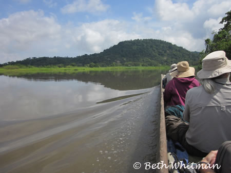 Group flowing down the Sepik River