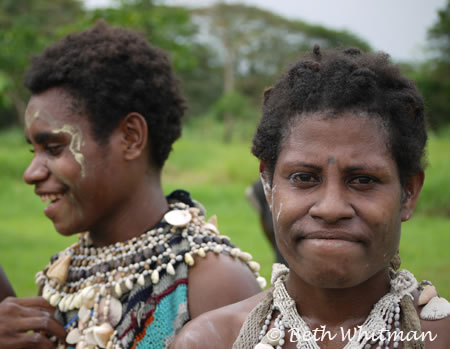 Women at a Sing Sing in the Sepik River area