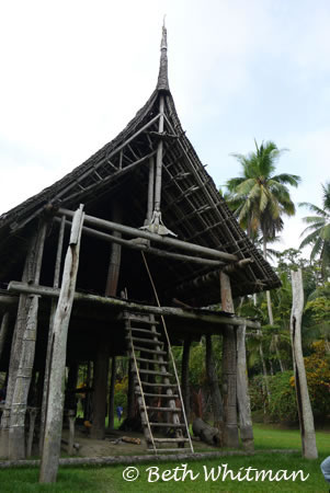 Spirit House in the Sepik River region