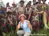 Beth with Villagers in the Sepik River region