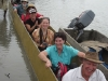 Group on boat in the Sepik River