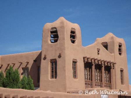 Santa fe Building an adobe house