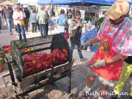 Roasting Peppers in Santa Fe