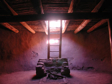 Kiva at Pueblo near Santa Fe