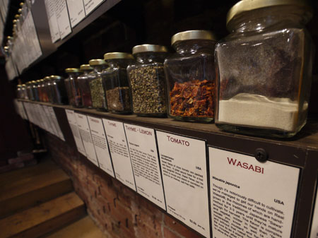 A variety of spices at World Spice