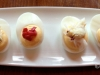 Beautiful presentation of deviled eggs at Matt\'s at the Market