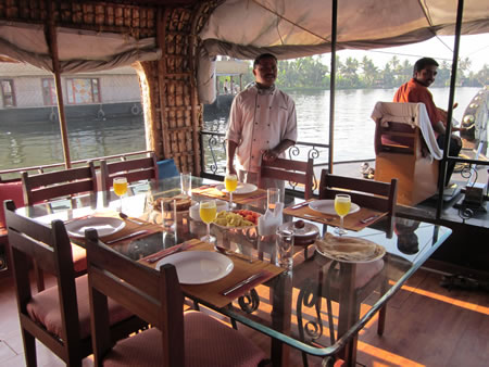 Breakfast on boat