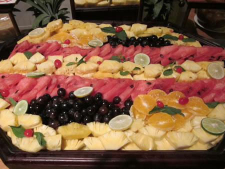 Fruit at breakfast buffet