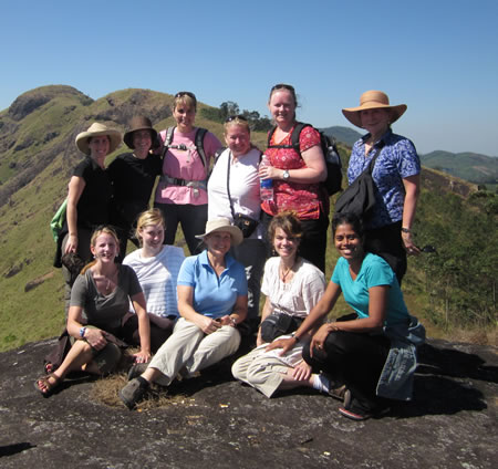 Group hiking near Munnar