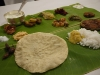 Lunch served on banana leaf