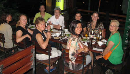 Group at dinner in Saigon