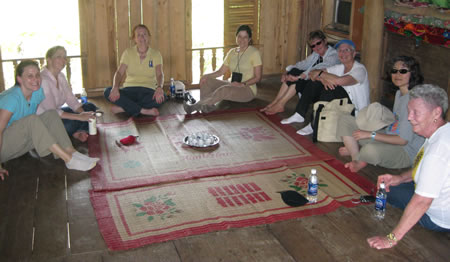 Group at lunch in Mai Chau