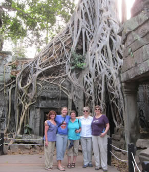 Group at wat in Siem Reap