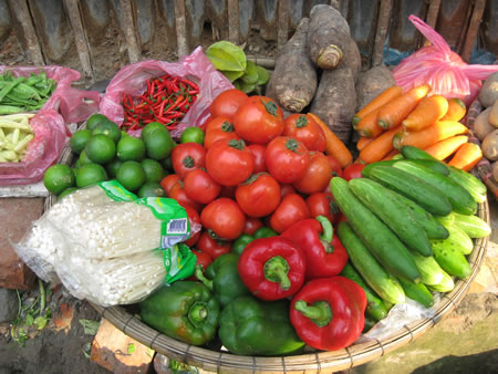 Vegetables in Hanoi