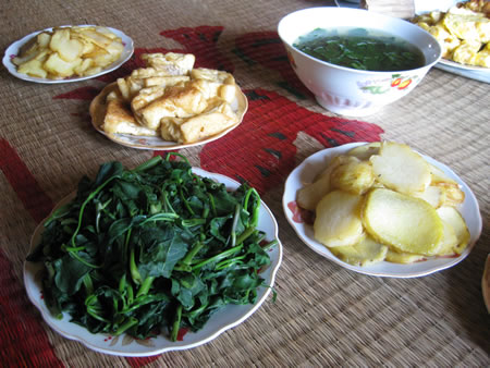 Hmong village lunch