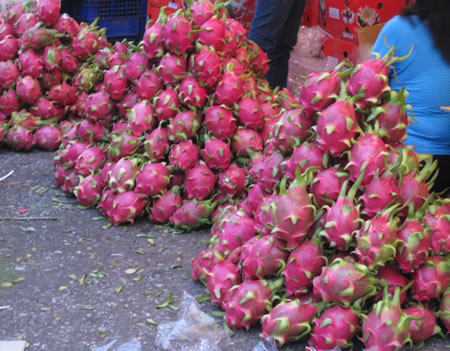 Rambutans at market