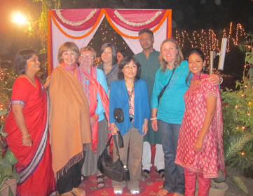 Tour group at Diwali Festival