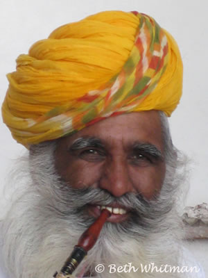 Rajasthan Man with Pipe