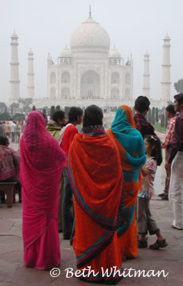 Women at the Taj Mahal India