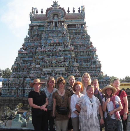 Group at Temple in South India