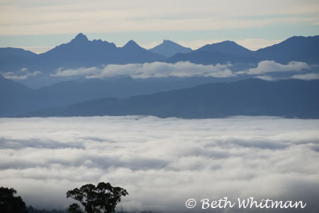 Mist over Mt. Hagen mountains in Papua New Guinea